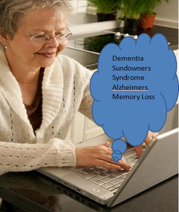 caregiver seeking information on sundown dementia
