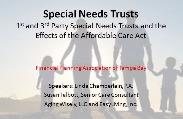 Special Needs Trusts and Care Assessments