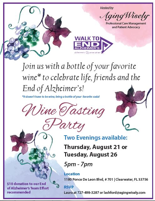 Aging Wisely Alzheimer's Awareness event