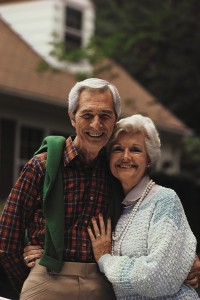 elderly couple aging in place at home