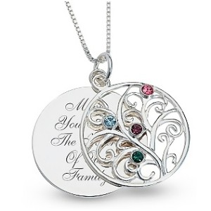 mother's day birthstone necklace