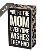 Mom Sign as Mother's Day Gift