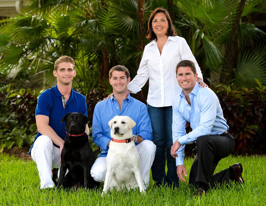 Linda Chamberlain and kids