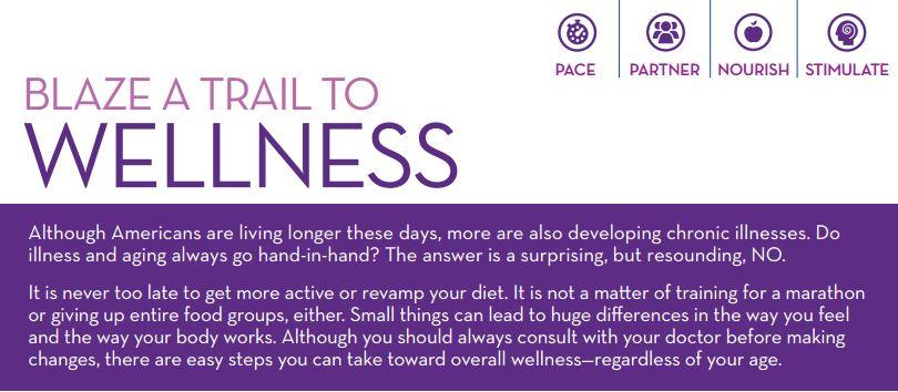 blaze a trail to wellness