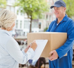 home shopping packaged delivery to woman with hoarding disorder