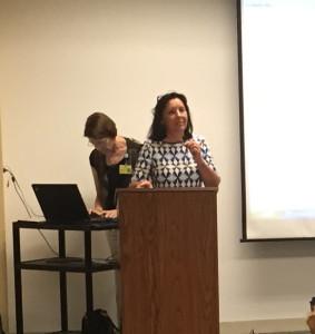 Linda Chamberlain speaking at Alzheimer's Education seminar for caregivers